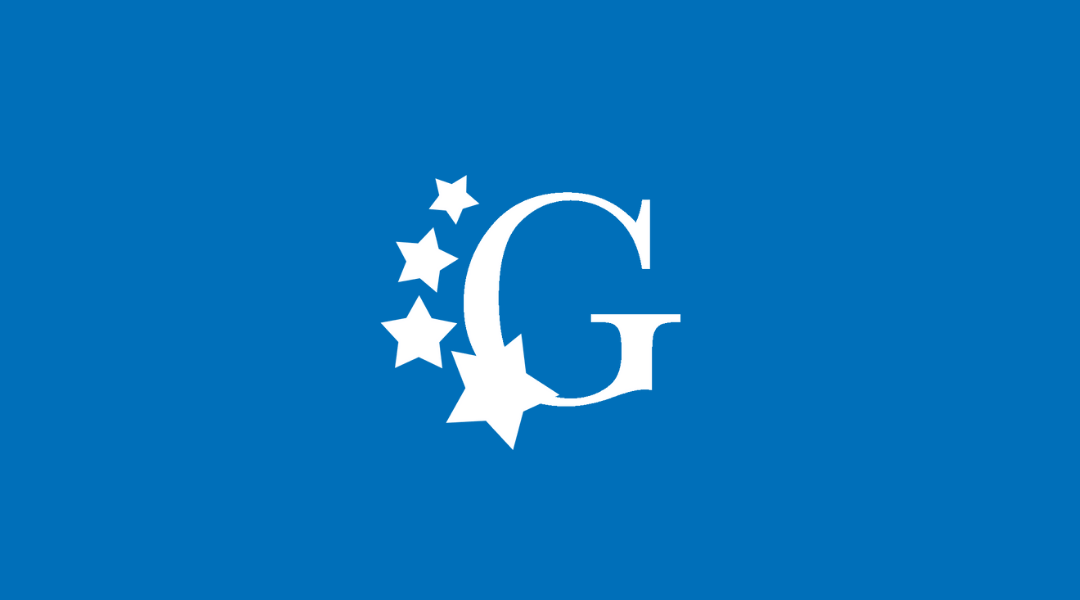 Generations logo on blue background