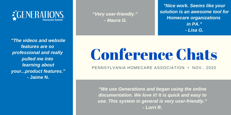 Feedback from the Pennsylvania Homecare Association Conference